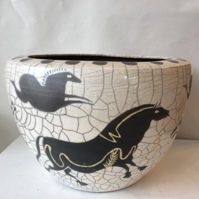Horses Lascaux bowl 2