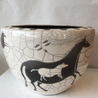 Horses Lascaux bowl 3