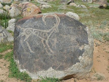 ibex-petroglyph-kochkorka, Kyrgyzstan