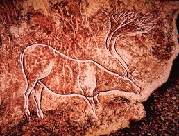 reindeer etched Combarelles